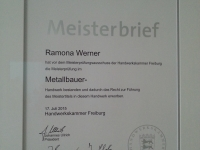 Meisterbrief Ramona Werner